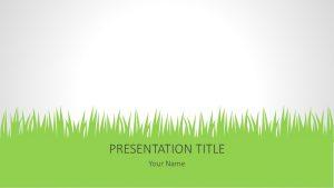 Free Grass PowerPoint Background