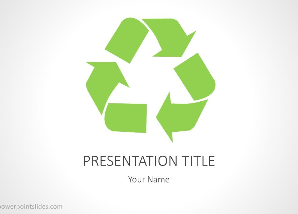 Recycling Powerpoint Background