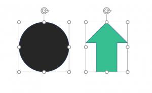 circle arrow shape