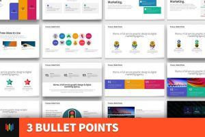 3 Bullet Points PowerPoint Template