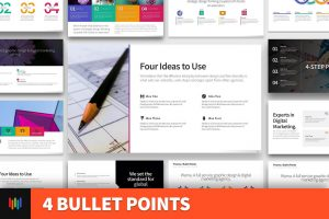 4 Bullet Points PowerPoint Template