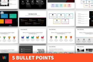 5 Bullet Points PowerPoint Template