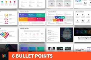 6 Bullet Points PowerPoint Template
