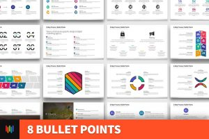 8 Bullet Points PowerPoint Template