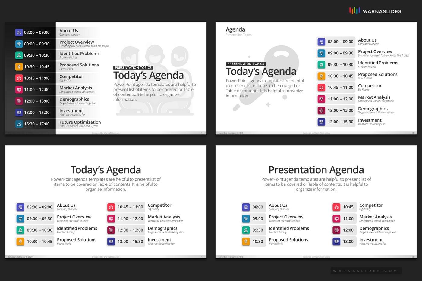 Agenda Meeting PowerPoint Template - PSlides