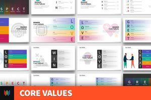 Business Core Values For Powerpoint Pslides