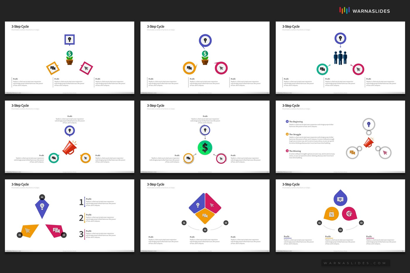 Cycle-Circular-Process-Step-PowerPoint-Template-for-Business-Pitch-Deck-Professional-Creative-PowerPoint-Icons-006