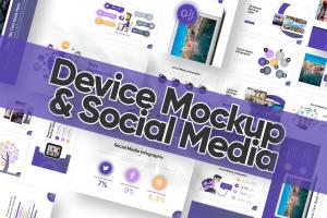 Mockup & Social Media Slides Powerpoint Template