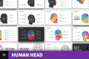 Human Head Shape PowerPoint Templates