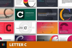 Letter C Typography PowerPoint Template