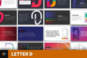 Letter D Typography PowerPoint Template