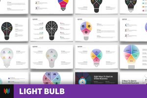 Light Bulb Shape PowerPoint Templates