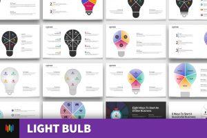 Light Bulb Shape PowerPoint Templates