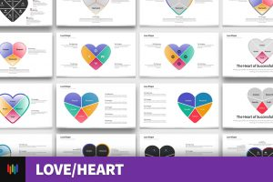 Love Shape PowerPoint Templates