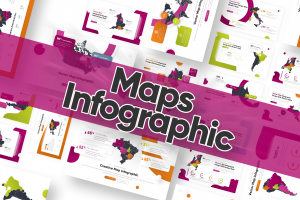 Maps Infographic Powerpoint Template