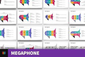 Megaphone/Loudhailer Shape PowerPoint Templates