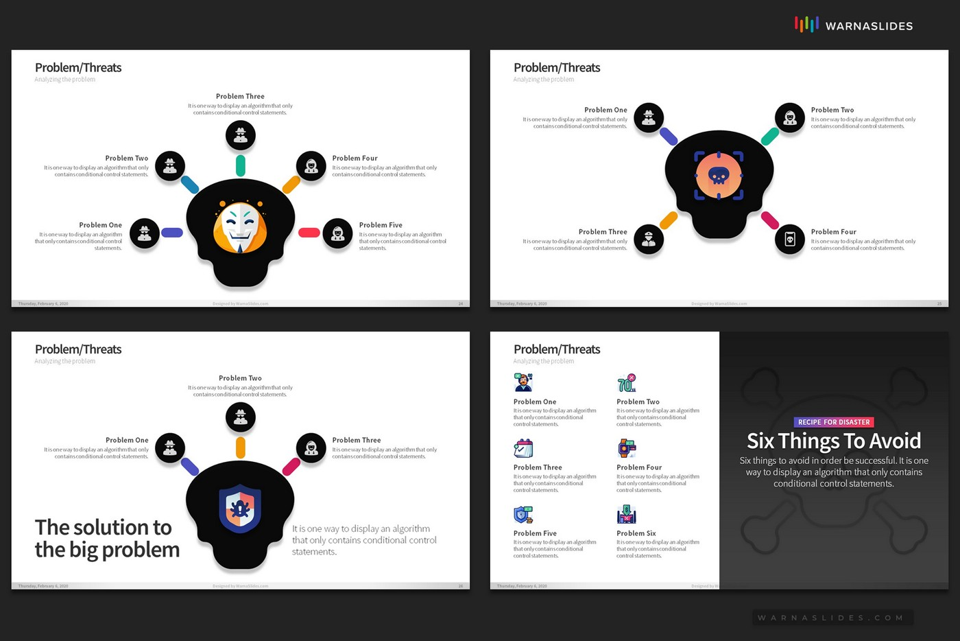 Problem-Threats-Risk-Management-Weaknesses-Services-Brainstorm-PowerPoint-Template-2020-for-Business-Pitch-Deck-Professional-Creative-Presentation-by-Warna-Slides-011