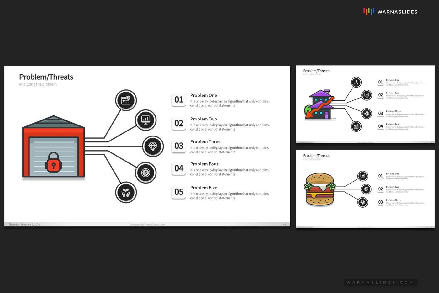 Problem-Threats-Risk-Management-Weaknesses-Services-Brainstorm-PowerPoint-Template-2020-for-Business-Pitch-Deck-Professional-Creative-Presentation-by-Warna-Slides-015