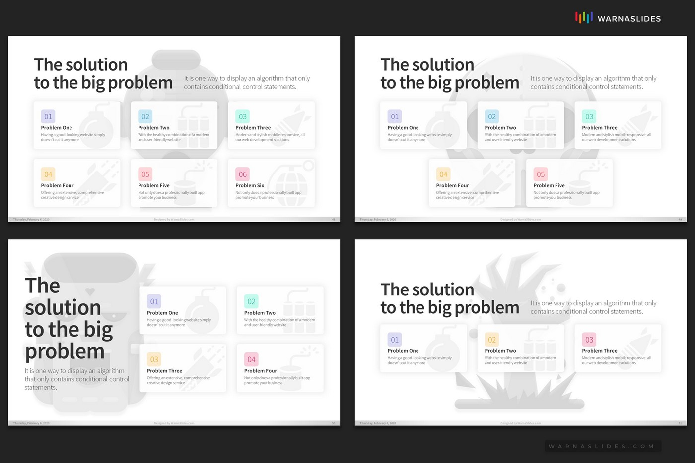 Problem-Threats-Risk-Management-Weaknesses-Services-Brainstorm-PowerPoint-Template-2020-for-Business-Pitch-Deck-Professional-Creative-Presentation-by-Warna-Slides-016
