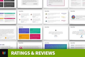 Ratings & Reviews PowerPoint Template