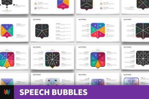 Speech Bubble Shape PowerPoint Templates