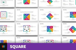 Square Shape PowerPoint Templates