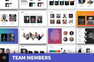 Team Members PowerPoint Template