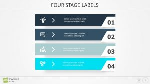 Free Four Stage Labels PowerPoint Diagram