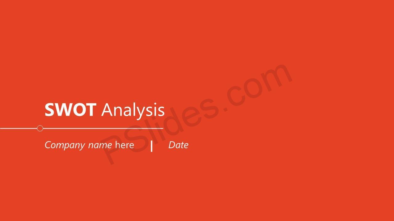 Simple SWOT Analysis Slide