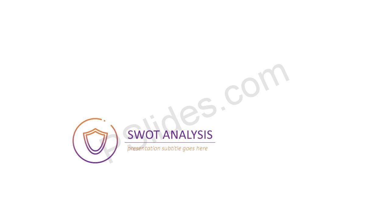 Simple SWOT Analysis Slide 1
