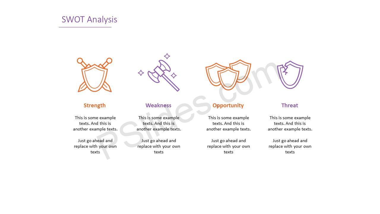 Simple SWOT Analysis Slide 3
