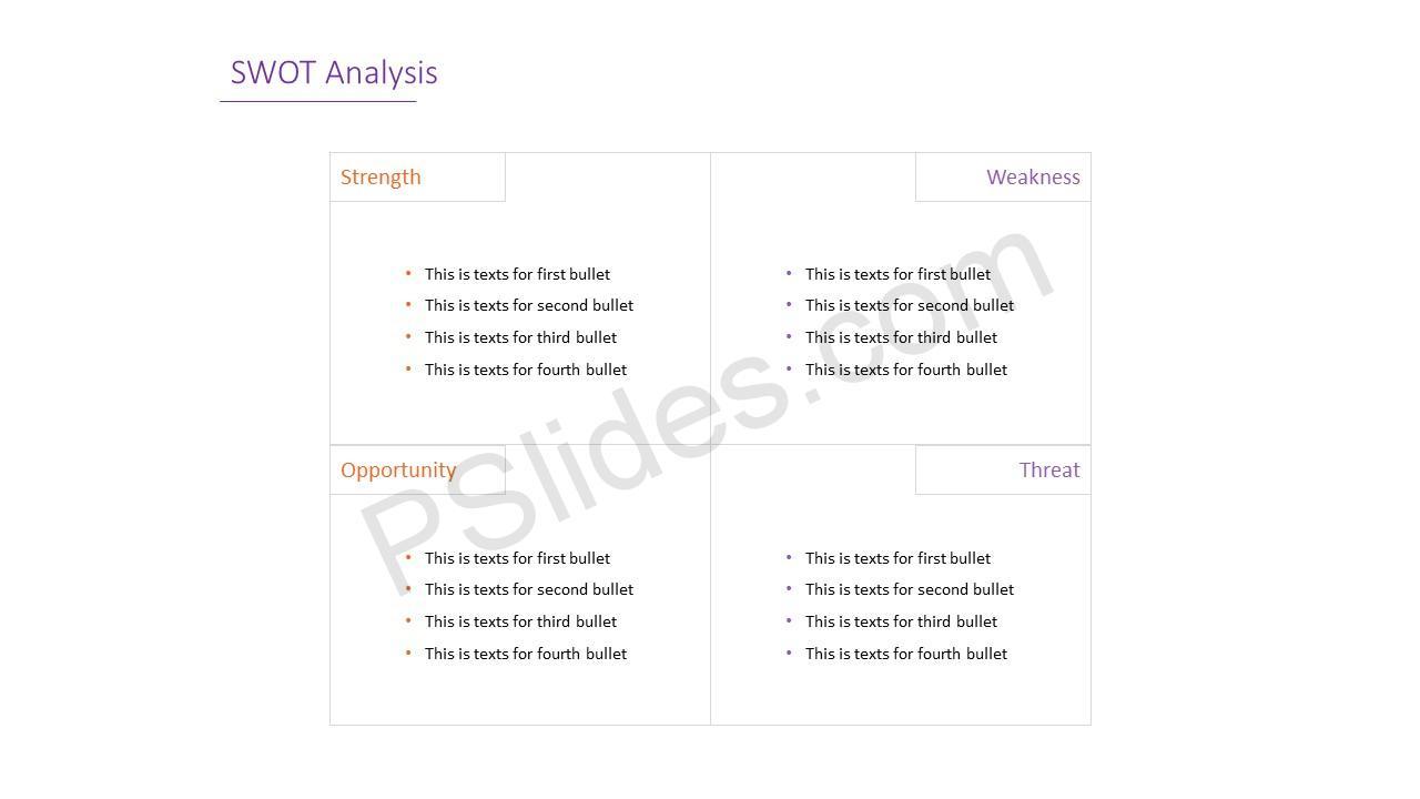 Simple SWOT Analysis Slide 6