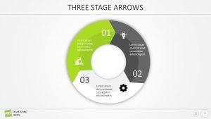 Free Three Stage Arrow PowerPoint Diagram