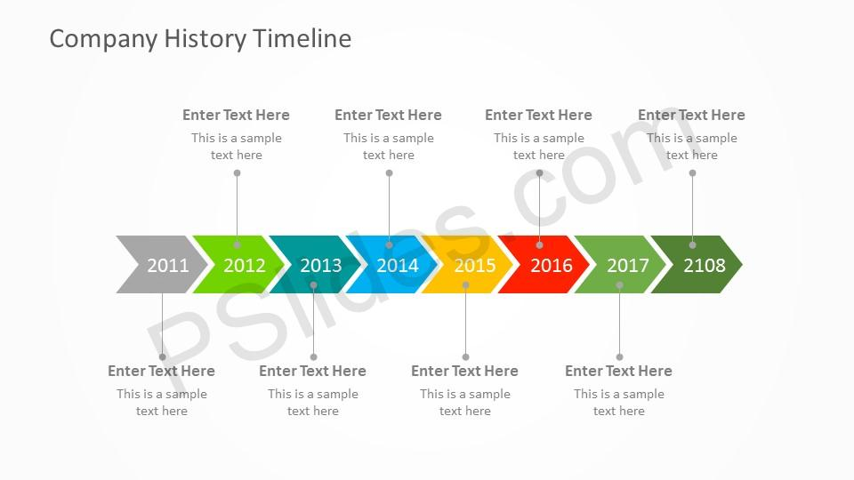 Free Company History PowerPoint Timeline