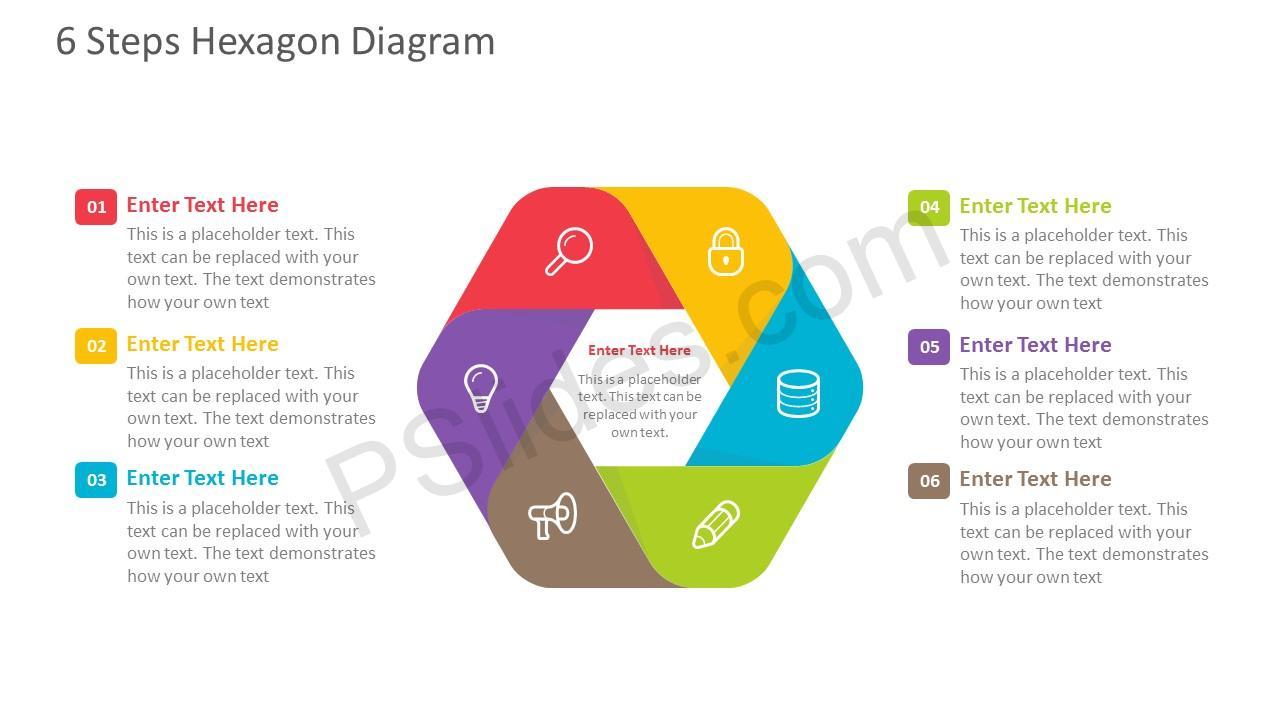 Free 6 Steps Hexagon Diagram