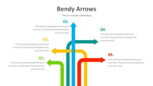 Free Bendy Arrows PowerPoint Diagram