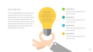 Free Light Bulb PowerPoint Diagram