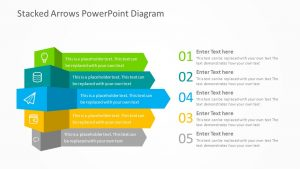 Free Stacked Arrows PowerPoint Diagram