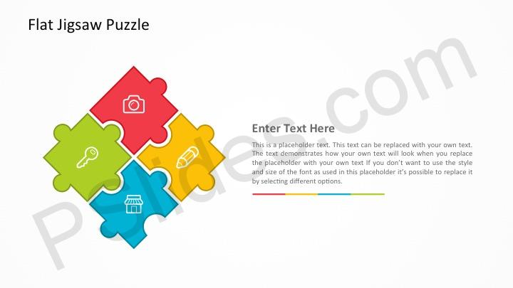 Free flat jigsaw puzzle powerpoint template previousnext our flat jigsaw puzzle toneelgroepblik Images
