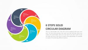 6 step circular diagram for PowerPoint