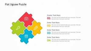 Flat Jigsaw Puzzle PowerPoint Template