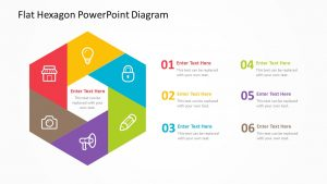 Flat Hexagon PowerPoint Diagram