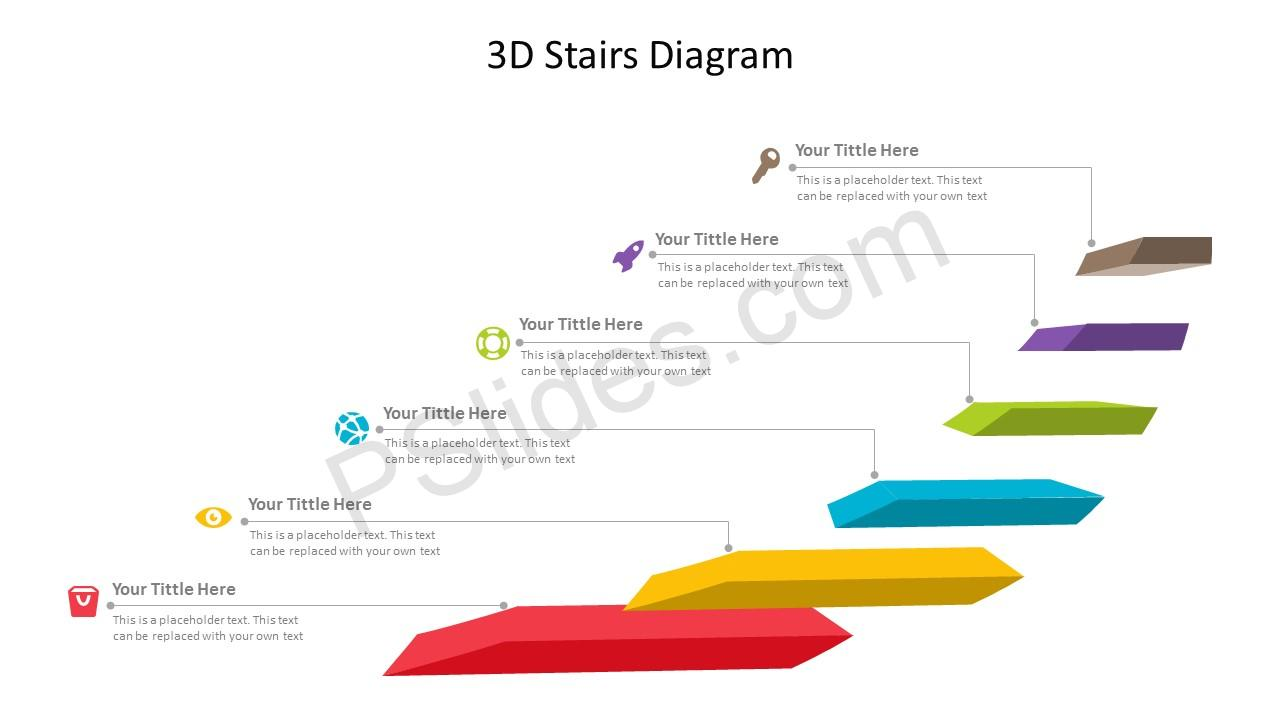 3D Stairs Diagram for PowerPoint