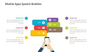 Mobile Apps Speech Bubbles