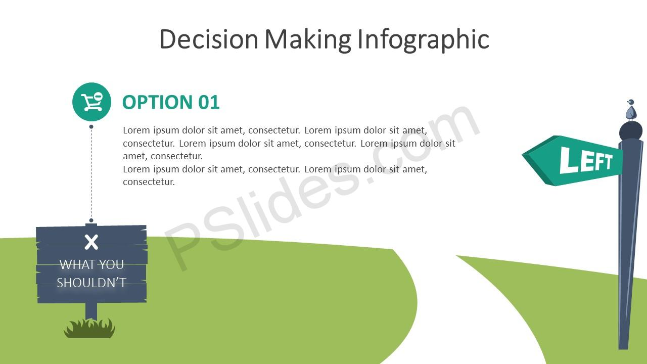 Decision Making Infographic for PowerPoint – Option 1