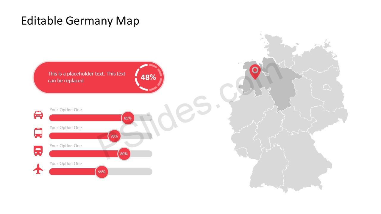 PowerPoint Maps of Germany