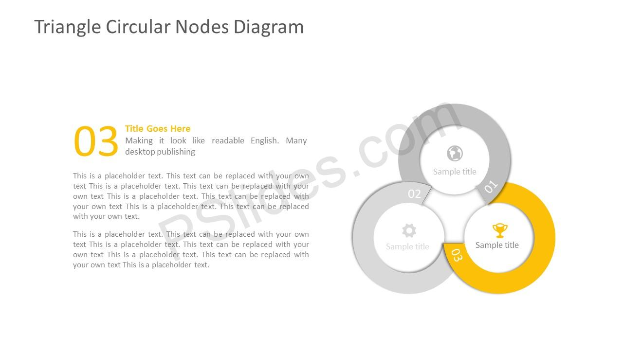 Three Stage PPT Circular Template