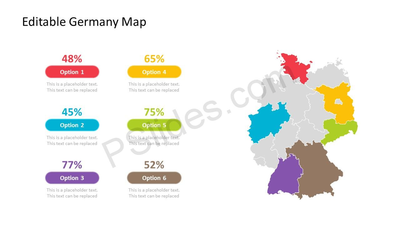 PowerPoint Map for Germany