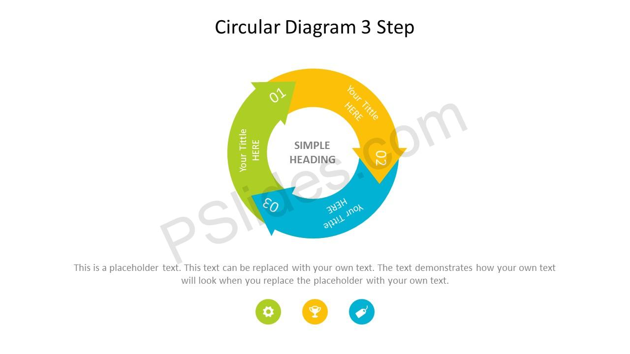 Circular 3 Stage PowerPoint Arrow Diagram