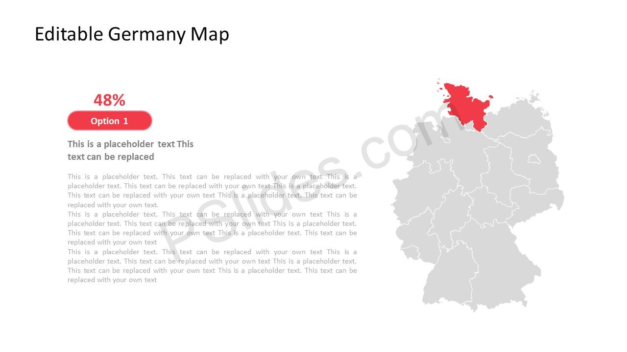 Map PPT of Germany